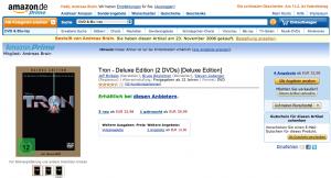 Die Produktseite am 28. Januar 2011